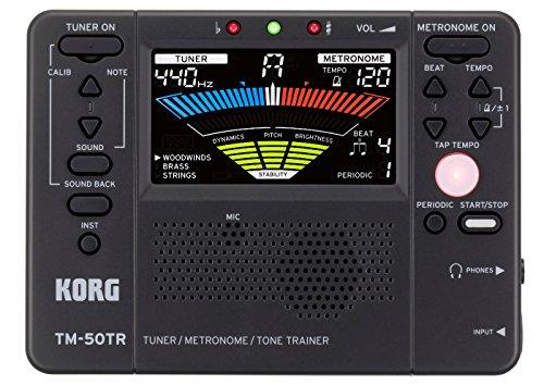 Korg TM50TRBK Trainer Metronome Tuner, Black