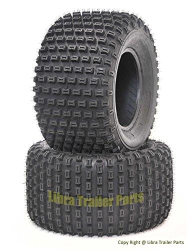 2 New WANDA ATV Tires 22X11-10 4PR P322 Dimple Knobby - 10029 by Wanda
