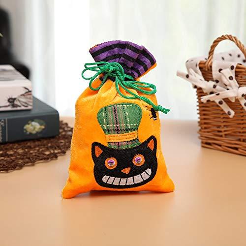 ATOLY Halloween Bucket with Handles Quail Eggs, Halloween Party, Halloween Snacks, Bags, Bucket Decoration, Candy Bucket Black Orange,Halloween Goodie Bags]()