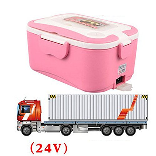 coffled electric heating bento lunch box 24v in vehicle bpa free plastic food storage container. Black Bedroom Furniture Sets. Home Design Ideas
