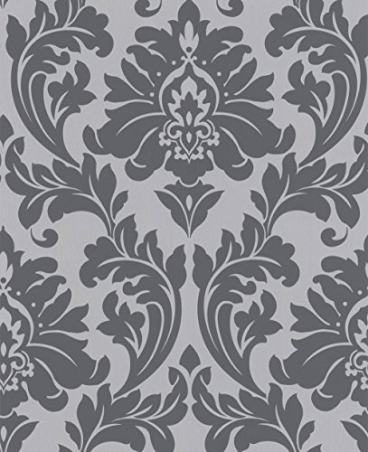 (Graham & Brown 30-437 Superfresco Easy Majestic Wallpaper, Gray)