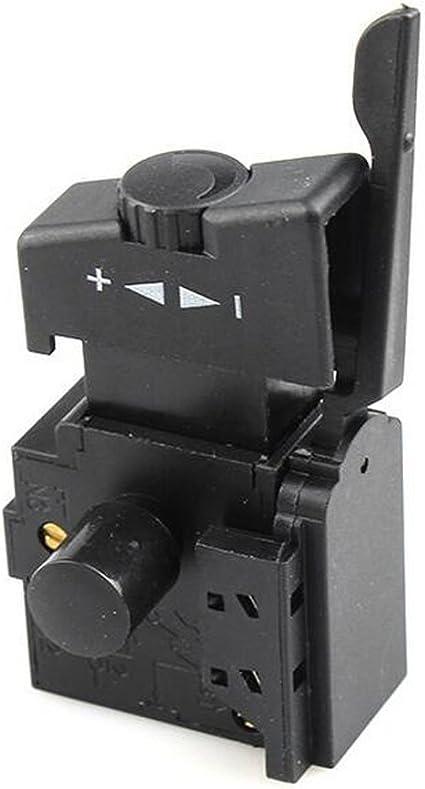1 ST/ÜCK Schwarz Premium Qualit/ät 10A Sperre auf Elektrowerkzeug Bohrmaschine Drehzahlregelung Ausl/ösetaste Schalter A