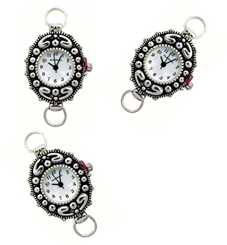 Silver Interchangeable Beaded Watch - PlanetZia 2pcs Beading Watch Faces For Interchangeable Beaded Bands TVT-13L