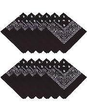 MissShorthair Bandanas Face Scarf for Men & Women - Bandana Headband Handkerchiefs Scarf for Dust, Sports, Outdoor