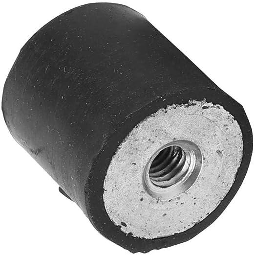 Cilindro antivibrante per cuscinetti in gomma M4 con supporto in gomma con filettatura femmina 4 pezzi DE10*10 M4