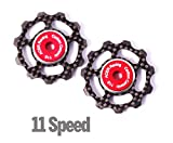 ACER Racing Carbon Fiber Jockey Wheels with Ceramic Bearings for 11 Speed Derailleurs