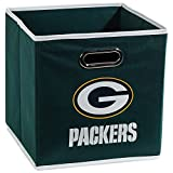Franklin Sports NFL Green Bay Packers Fabric Storage Cubes – Made To Fit Storage Bin Organizers (11×10.5×10.5″)