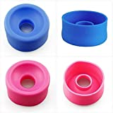 4 Pieces Colorful Soft Silicone Replacement Vacuum Pump Sleeve for Men