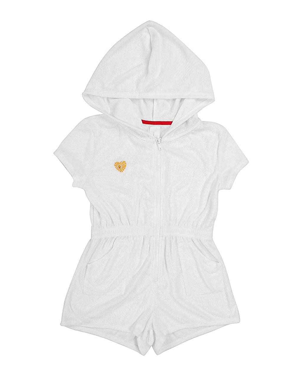 UDIY Kids Terry Cloth Hooded Swim Cover Up Zip Front Beach Coverups