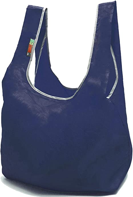 Sofs offers a medium size ORANGE frilly ripstop nylon foldable tote bag.