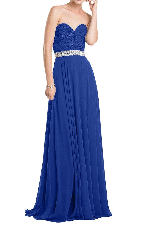 Prom Style Traegerlos Chiffon Abendkleider Brautjungfernkleider ...