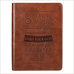 be strong courageous brown flexcover journal joshua 19