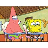 SpongeBob And Patrick Personalized Edible Frosting Image 1 4 Sheet Cake Topper