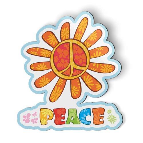 AK Wall Art Peace Cute Flower - Magnet - Car Fridge Locker - Select Size (Zen Refrigerator Magnets)