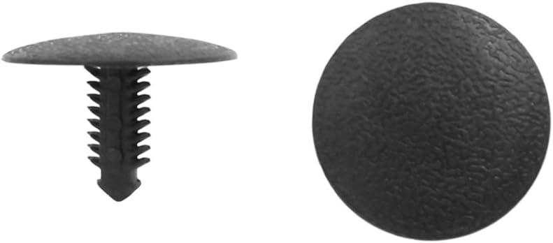 Sourcingmap 20stück 6 5mm Loch Durchmesser Plastik Auto Nieten Befestigungs Push Typ Clip Schwarz De Auto