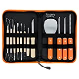 Halloween Haunters Ultimate 12 Piece Professional Pumpkin Carving Tool Kit - Easily Carve Sculpt Halloween Jack-O-Lanterns - 18 Cuts, Scoops, Scrapers, Saws, Loops