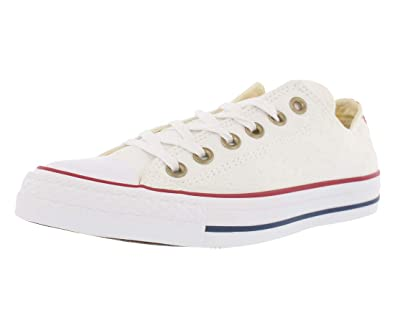 f1f9886f12cc Converse Womens Chuck Taylor All Star Low Sneakers White Casino  White  Womens 6