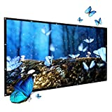 Projector Screen ,GuckZahl 100 Inch Projection Screen 16:9 HD Foldable Anti-crease,Lightweight, Movies Screen Outdoor Indoor for Home Theater/Camping/Home Theater/Education/Office Presentation