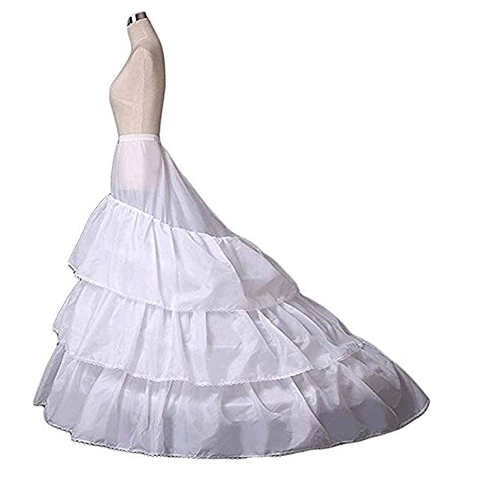 8221d5b00875 Image Unavailable. Image not available for. Color: Women's Petticoats  Mermaid Crinoline Half Slips Underskirt Hoop ...