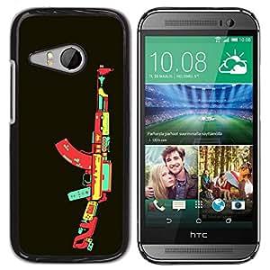Carcasa Funda Prima Delgada SLIM Casa Case Bandera Cover Shell para HTC ONE MINI 2 / M8 MINI / Business Style Video Game AK47 Gun