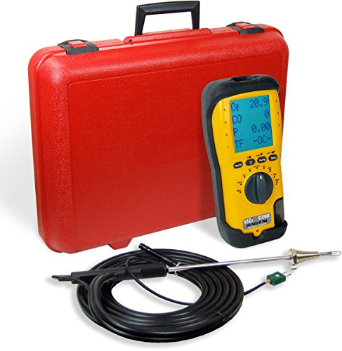 UEi Test Instruments C255-N LL EOS Industrial Combustion Analyzer, 10 ppm H2 Compensated Long Life Sensor, NIST-Calibrated (Ll Combustion Analyzer)