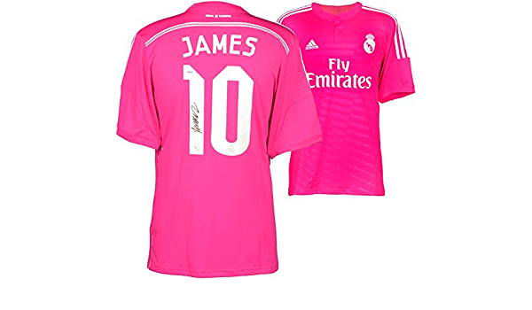 James Rodriguez Real Madrid Autographed Pink Jersey - Autographed ...
