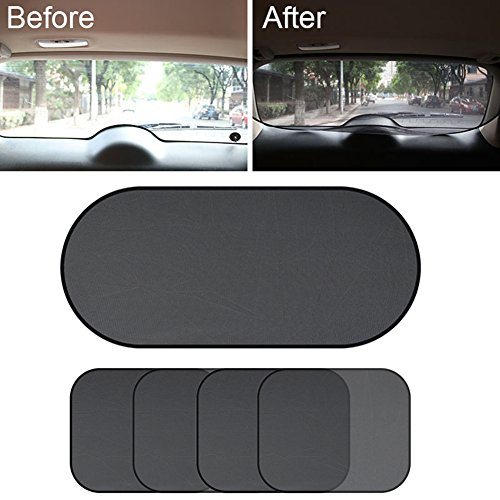 Gaweb Car Sun Shade Car Side Rear Window Screen Sunshade Windshield UV Protection Mesh Cover Visor by Gaweb (Image #3)