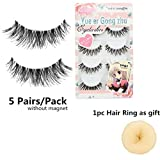 Voberry Women Gril Lady Big Sale! 5 Pair/lot Crisscross False Eyelashes Lashes Voluminous HOT Eye Lashes (Black)
