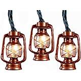 Kurt Adler UL 10-Light Brass Lantern Light Set