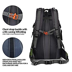 50 L Waterproof Backpack Climbing Fishing Backpack Hiking Daypack,Handy Foldable Camping Outdoor Backpack Bag ( Army Green, New Style )