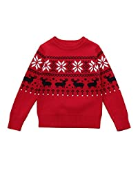 Baby Winter Clothes, Tenworld Boys Girls Christmas Deer Long Sleeve Sweater