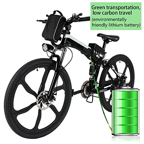 - Kemanner 26 inch Electric Mountain Bike 21 Speed 36V 8A Lithium Battery Electric Bicycle for Adult (Black.-(Fold-Upgrade))