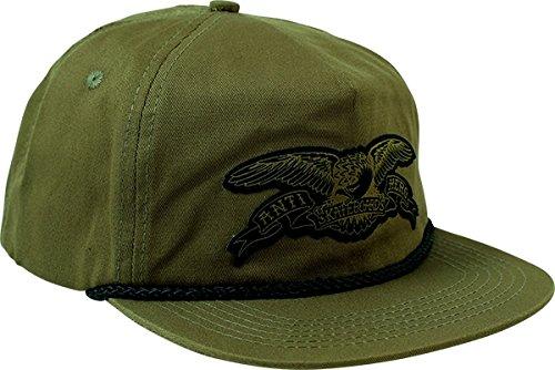 Anti Hero Skateboards Stock Eagle Patch Green Snapback Hat - Adjustable