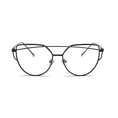 8b936a209 Simple Cat Eye Glasses Black Big Frame Clear Lens Eyewear for Women ...