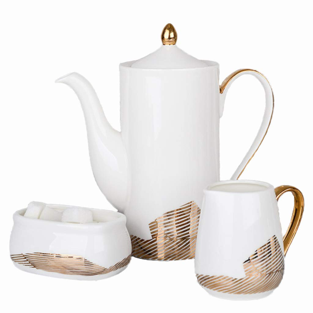 コーヒーカップ 誕生日ギフトティーセット、セラミック家庭用ティーセットバーパーティティーセットシンプルレストランティーセット ティーセット (色 : C) B07MJTKBBJ C