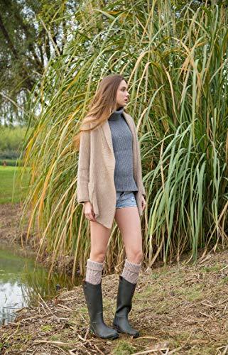 Taille Beige Femme Chaussettes Montantes Acvip Unique 6ZwtXX
