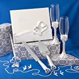 Interlocking Heart Themed Wedding Day Accessory Set