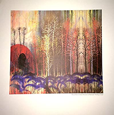Radiohead Divided Wood Lithograph by Stanley Donwood King of Limbs Poster
