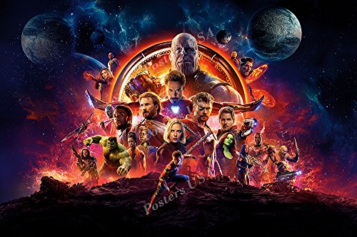 Posters USA Marvel Avengers Infinity War Textless Movie Post