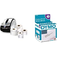 DYMO LabelWriter 450 Super Bundle - Free Label Printer with 4 Rolls of Shipping, Black/Silver & Authentic LW Mailing Address Labels | DYMO Labels for LabelWriter Label Printers, 2 Rolls of 350