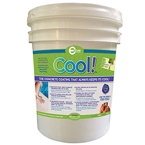 Amazon.com : Cool Decking Pool Deck Paint   Coating For Concrete And Decks    Waterproof Concrete Paint That Repairs, Seals, And Cools Your Pool Deck  ...