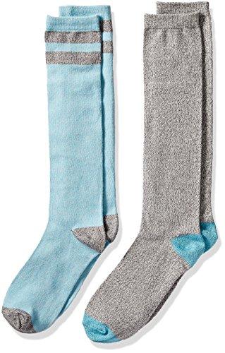 Cuddl Duds Big Girls' Knee High Socks, Algiers Blue, 4-10 (Knee Socks Girls)
