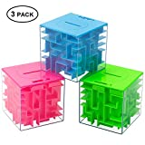 ThinkMax Money Maze Puzzle Box, Puzzle Money Holder Gift Box for Kids and Adults, Unique Way to Give Birthday or Christmas Gag Gifts (3 Pack)