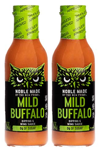 Noble Made by The New Primal, Mild Buffalo Dipping and Wing Sauce, Whole30 and Paleo Approved, 12oz, Pack of ()