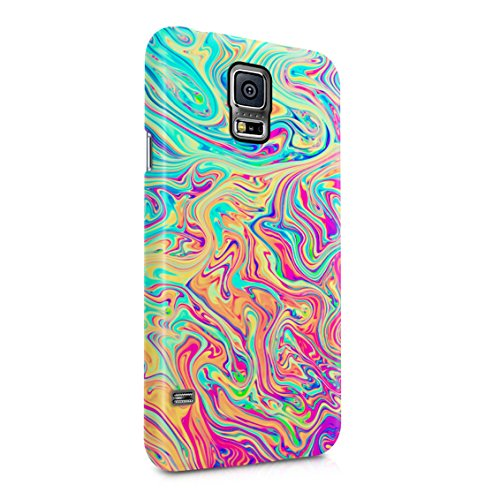 Soap Film Tie Dye Colorful Iridescent Pale Rad Indie Boho Tumblr Plastic Phone Snap On Back Case Cover Shell For Samsung Galaxy S5