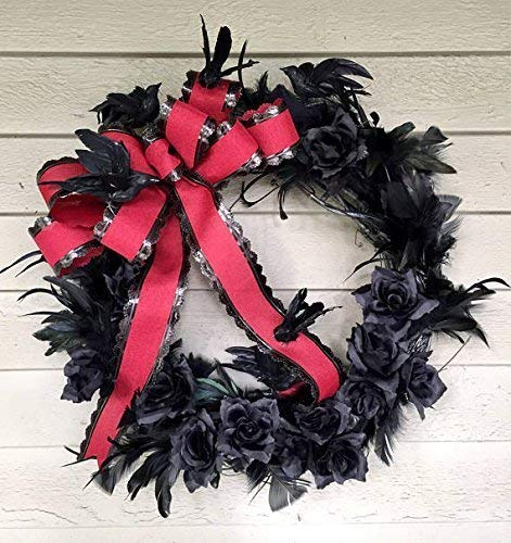 Gothic Halloween Flying Blackbirds Wreath ()