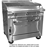 Southbend P36A-CCC LP - 36-in Stainless Radiant Range Charbroiler, Manual, Convection Oven, LP
