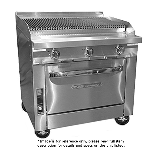 South Bend Manual Range - Southbend P36A-CCC LP - 36-in Stainless Radiant Range Charbroiler, Manual, Convection Oven, LP