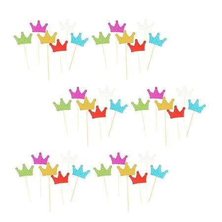 Amosfun - Juego de 36 Coronas para Cupcakes de cumpleaños o ...