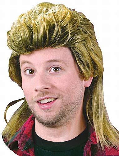 Fun World Men's Mullet Wig, yellow,